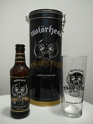 Genuine Motorhead Beer Gift Tin Set, Glass, Bottle