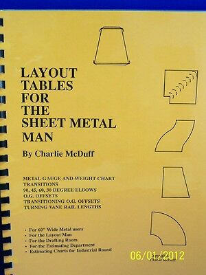LAYOUT TABLES FOR THE SHEET METAL MAN/ Can easily reduce layout time by 40% $$$$