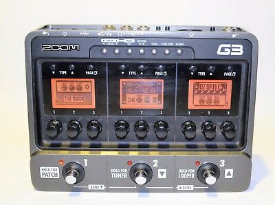 Zoom G3 Guitar Multi Effects & Amp Simulator Pedal Looper #1658