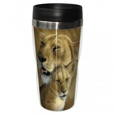 Tree Free Mug 47cl (16 ounce) Travel Tumbler Lioness & Cub