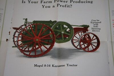 Rare International Harvester Mogul Tractor Colorful Advertising Sales Brochure
