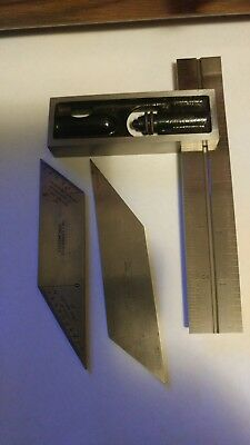 The L.S. Starrett Co. No.13 Double Square 6 Inch & Hexagon/Octagon Blade  (Nice)