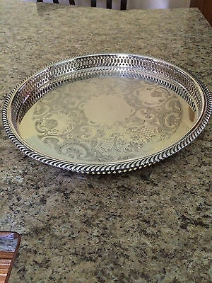 Marlboro Plate By Morton- Parker Canada  Round Silver Plated Serving Tray