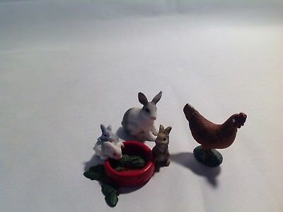 Schleich Bunnies BUNNY Rabbits Collectible Mama Bunny and Hen
