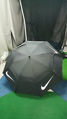 "Nike Windsheer Lite Tour Golf Umbrella, Black, 68"" Twin Canopy"