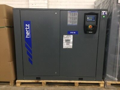 40 HP Hertz HVD-30 Variable Speed Rotary screw air compressor