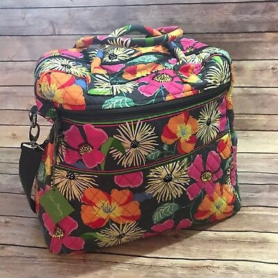 Vera Bradley Overnight Travel Bag Jazzy Blooms Duffel Duffle Suitcase Carry On