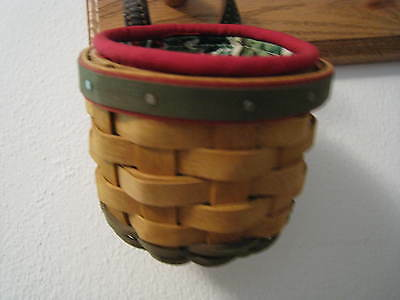 Longaberger 2002 Warm Brown Xs Gatehouse Basket Combo Euc