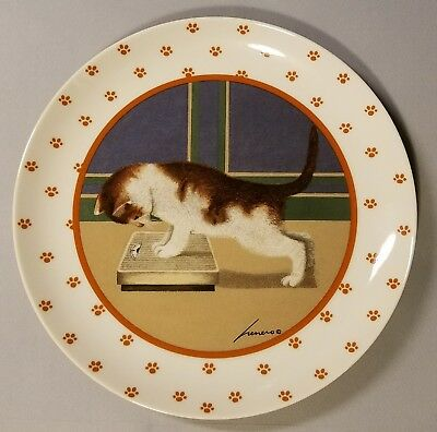 Lowell Herrero Cat Kitten Scale  Collector Plate - Made In Japan - 1989