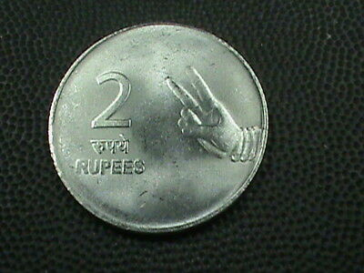 INDIA     2  Rupees    2010  -  B     ALMOST  UNCIRCULATED