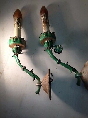 Pair Of Unusual Wall Sconces-