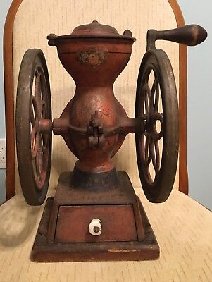 Antique Enterprise No. 2 Original Paint Decals Coffee Grinder General Store