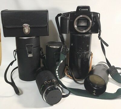 Vintage Camera Lens Case Lot Canon and More