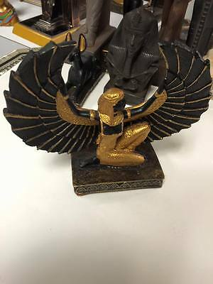 Vintage Egyptian Goddess ISIS Statue Hand Carved  1983 Made in Egypt