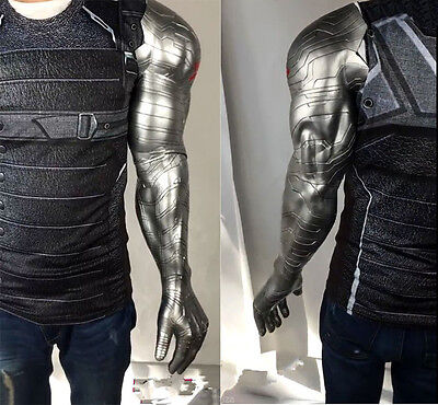 US SHIP Avengers Winter Soldier Barnes Cosplay Armor Arm Men Muscle Props PVC