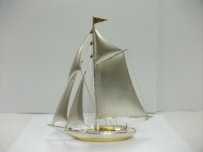 The sailboat of Silver970 of Japan. #144g/ 5.07oz. A Japanese antique.