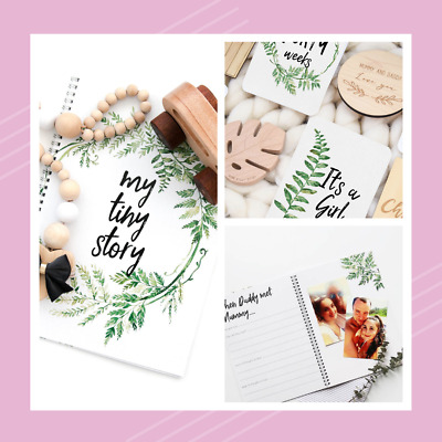 Baby Memory Journal with Matching Milestone Cards - Fern Design