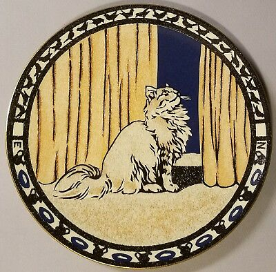 "Metropolitan Museum Of Art ""the Little Gray Cat"" Collector Plate - 1989"