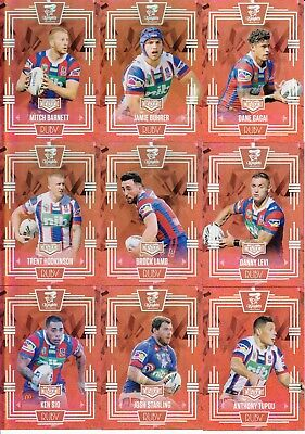 2017 Nrl Elite Limited Edition Ruby Mojo Team Set - Newcastle Knights #13 / 40