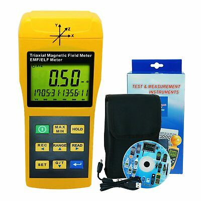 Digital Mini Triple Axis 2000Hz EMF ELF Magnetic Field Radiation Meter 2000mG