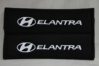 NEW Embroidery Seat Belt Cover Shoulder Pad Pair For Hyundai Elantra