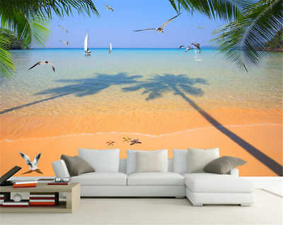 Starfish Lay On Beach Full Wall Mural Photo Wallpaper Printing 3D Decor Kid Home