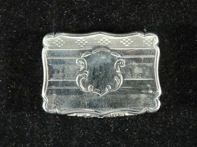 Beautiful Victorian Solid Silver Vinaigrette Birmingham 1850 by David Pettifer
