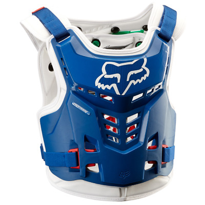 NEW Fox Racing ProFrame Kids Youth Armour BLUE GREEN LC Chest Protector MX Moto