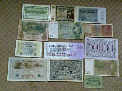 Germany - Lots Of 13 Banknotes #2-