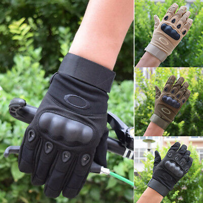 Army Military Tactical Hard Knuckle Full Finger Glove Hunting Motorcycle Biker B