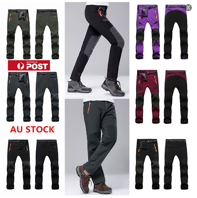 AU Womens Mens Waterproof Windproof Fleece Hiking Snow Ski Pants  Pants Trousers