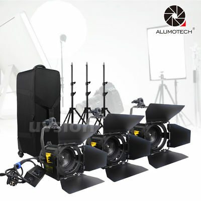 3 Unit 20W LED Fresnel Spot Light+Stands Kit For Camera Video Studio Photography