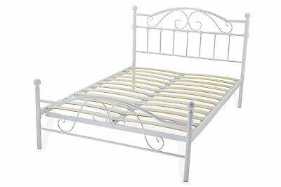 Black & White Metal Steel Bed All Sizes *Seconds* Free Delivery