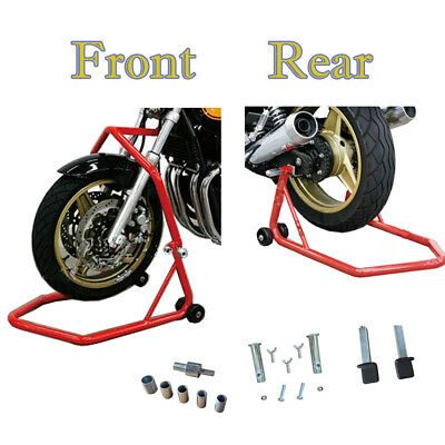 Motorcycle Motorbike Front and Rear Paddock Stand Headstock 340kg Lift Capacity