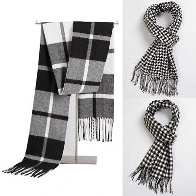 Men Women Winter Warm Scarf Solid Plaid Wool SCOTLAND High quality Scarf Wrap