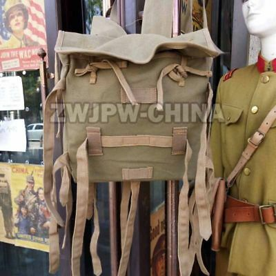Wwii Japanese Army 1940 Bag Backpack Sack Japan Military War Type Canvas Bag