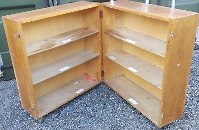 Antique Mid-Century Folding Campaign Bookcase