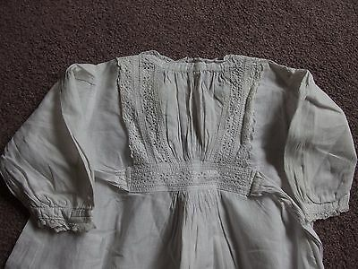 Antique Baby Dress Lace bodice trims Christening