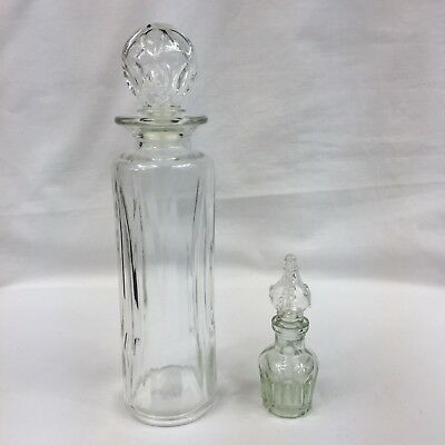 Vintage Avon Glass Perfume Bottle With Stopper & Perfume Bottle With Applicator