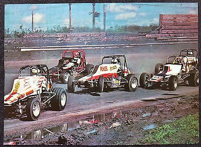 KNOXVILLE SPRINTCAR SPEEDWAY POSTER 1980's DOUBLE SIDED POSTER 53 x 38cm