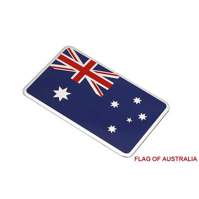 1 Silver Flag of Australia 3D Car Auto Emblem Badge Sticker Decal Chromed Metal