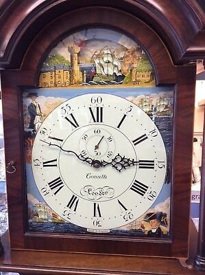 Comitti Grandfather Clock of London Trafalgar hand painted scene RRP £7,750.00