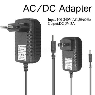 Universal 5V 3A 3.5mm EU/US Power Supply Adapter AC Cable Charger For Tablet PC