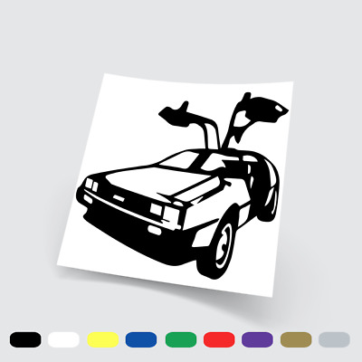 Adesivi in vinile Wall Stickers Prespaziati DeLorean Ritorno al Futuro 2 pc
