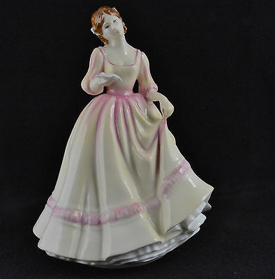 """Royal Doulton Yours Forever Yellow/Pink Dress HN3354 (8"""")"""