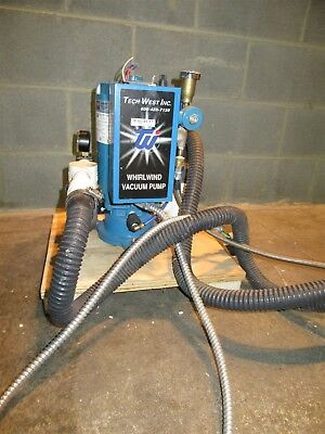 Tech West Whirlwind Dental Vacuum Pump System Operatory Suction 115/230 Volts
