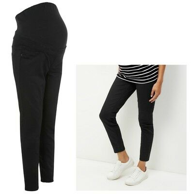 09957848f5316 Maternity New Look Over The Bump Jeggings Jeans Black Sizes 16 18 Leg 26
