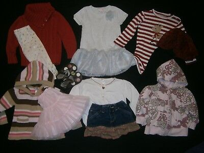 Girl's 18-24 Months * FALL & WINTER CLOTHING LOT * Cute OUTFITS & SETS MIX-MATCH