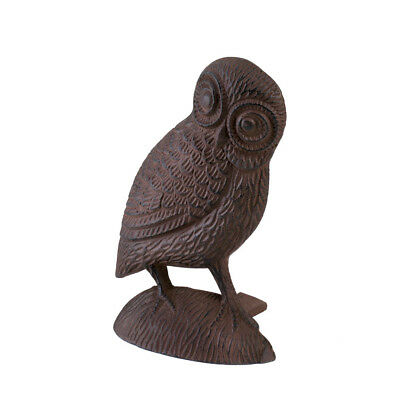 Owl Door Stopper, Door Stoppers Decorative - Cast Iron, Bronze Color