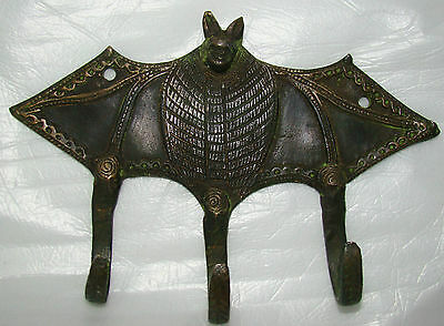 4 Attractive BAT Designed BRASS MADE COAT HOOKS (Very Beautiful) from INDIA
